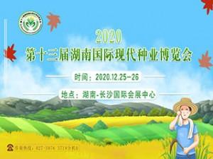 2020第十三届湖南国际现代种业博览会12月25日在长沙盛大召开!